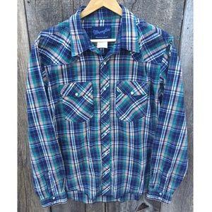 Wrangler Pearl Snap Casual Western Shirt